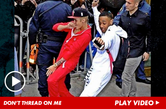 Justin Bieber -- Busted For Crime of Fashion in Sweden