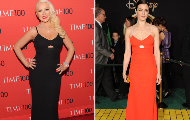 Dueling Dresses: Christina Aguilera vs. Rachel Weisz!