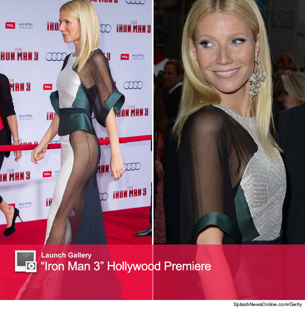 Gwyneth Paltrow Hits Red Carpet Without Underwear