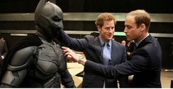 Prince William & Harry -- Geek Out Over the Dark Knight
