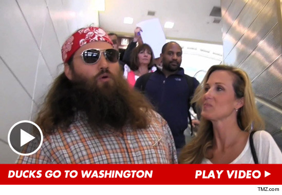 duck dynasty stars korie robertson and willie robertson just alighted