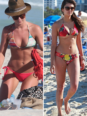 Julianne Hough and Nina Dobrev Show Off Beach Bods! 