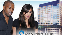 Kim Kardashian & Kanye West -- PRAISED BY HOSPITAL ... You're Saving Sick Babies