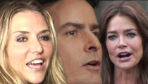 Charlie Sheen -- I'm GLAD My Twins are with Denise Richards