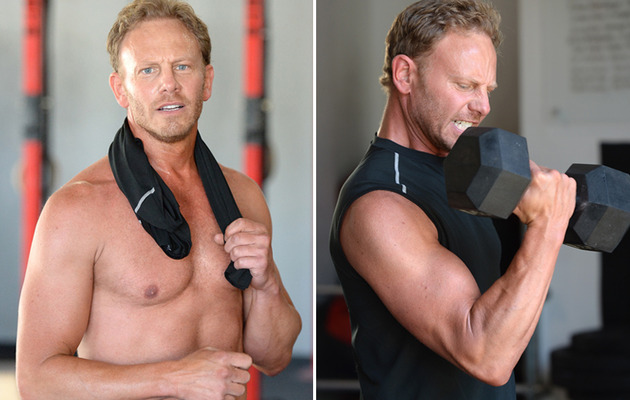 Whoa! Ian Ziering Flaunts Buff Bod at Chippendales Workout
