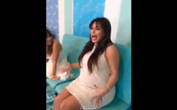 Video: Kim Kardashian Screams While Getting Fish Pedicure