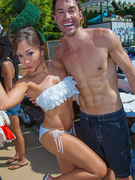 Diana DeGarmo &amp; Ace Young Show Beach Bods at Joint Bachelor Party!