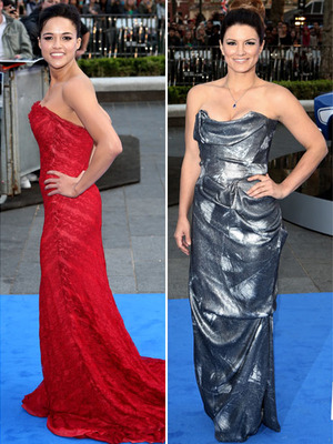 "Michelle Rodriguez and Gina Carano Go Glam For ""Fast and Furious 6"" Premiere!"