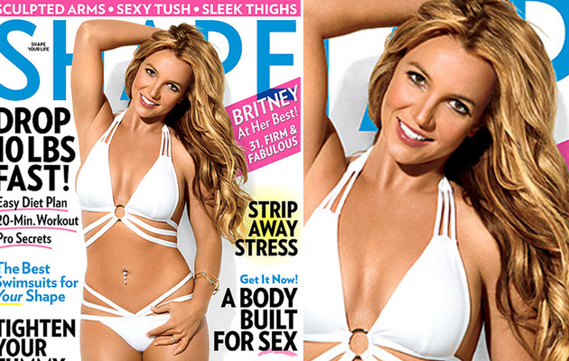Britney Spears Flaunts Hot Bikini Bod on Shape Cover