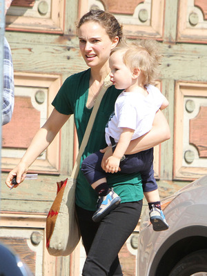 Natalie Portman Brings Baby Aleph Out in Hollywood! 