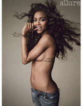 Zoe Saldana Strips for Allure, Says She Might End Up with a Woman!