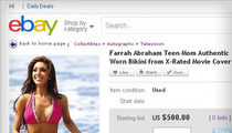 Farrah Abraham -- Used Sex Tape Bikini For Sale