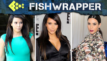 """Poor Kim Kardashian Says She's Wearing """"Whatever Fits,"""" is Obviously Wrong"""