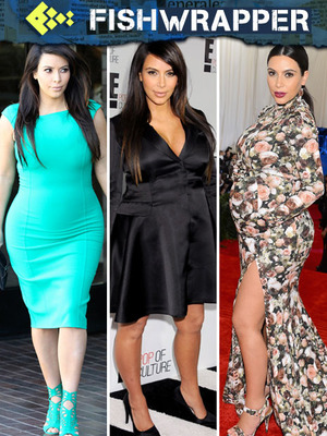 "Poor Kim Kardashian Says She's Wearing ""Whatever Fits,"" is Obviously Wrong"