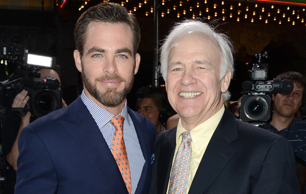 """Star Trek Into Darkness"" Premiere: Meet Chris Pines' Proud (and Famous) Papa!"