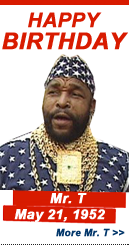Happy Birthday: Mr. T