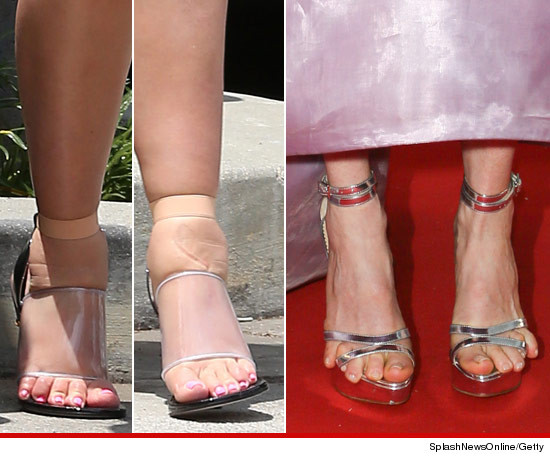 Kim Kardashian vs. Julianne Moore -- Whose Feet Would You Rather?