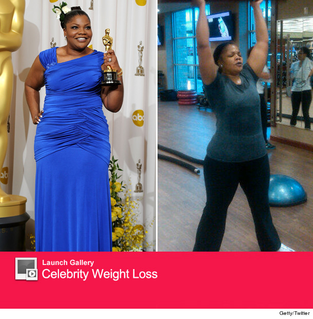 Mo'Nique has traded her Oscar statuette for weights!