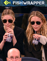 The Olsen Twins Are Doing Creepy Twin Things at a Basketball Game