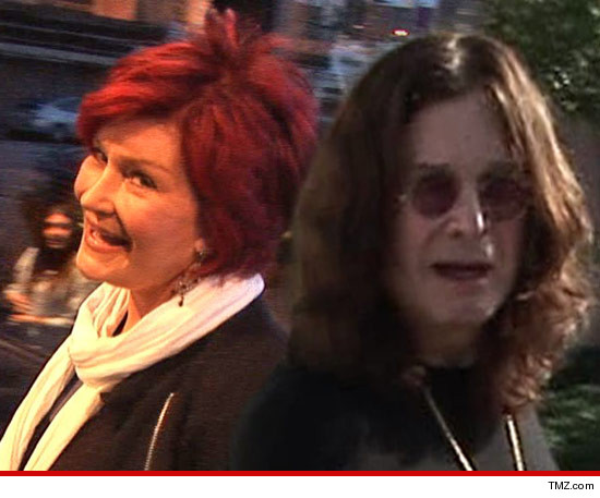 Sharon & Ozzy Osbourne -- Lunch Date in Beverly Hills