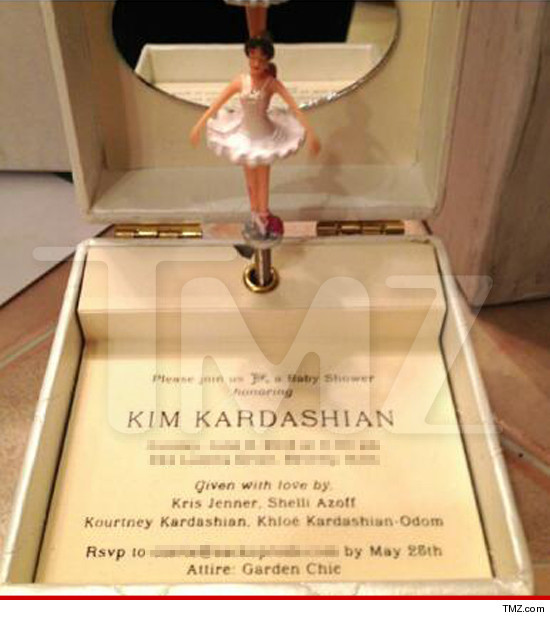 Kim Kardashian's Baby Shower Invite