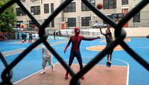 Spider-Man STREET BALLIN' in NYC -- Is that Andrew Garfield??