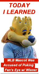 Today I Learned: MLB Mascot Was Accused of Poking Fan's Eye w/ Wiener