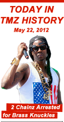 Today in TMZ History: 2 Chainz Arrested for Brass Knuckles