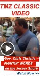Video Lightbox: Gov. Chris Christie -- FIGHTIN' WORDS on the Jersey Shore