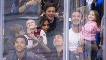 Tom Cruise & David Beckham -- The Kings Game Face-Off