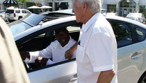 Keyshawn Johnson Takes Sick Prius To Starbucks in Calabasas!
