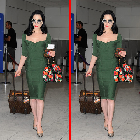Can you spot the THREE differences in the Dita Von Teese picture?