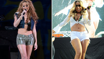 Mariah Carey Rocks Bikini Top and Daisy Dukes on Stage!