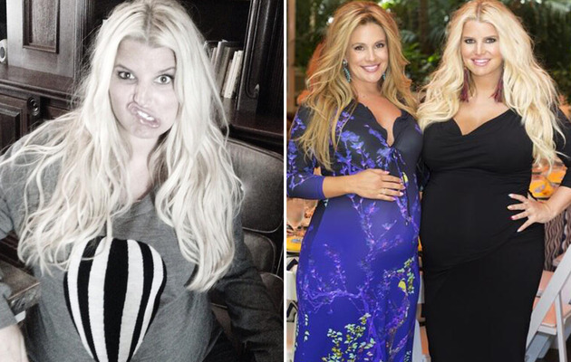 "Photos: Jessica Simpson's Pregnant Stomach ""Balloons"" Up"