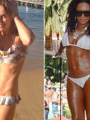 Geri Halliwell & Mel B -- Which Spice Girl Has Better Bikini Bod?