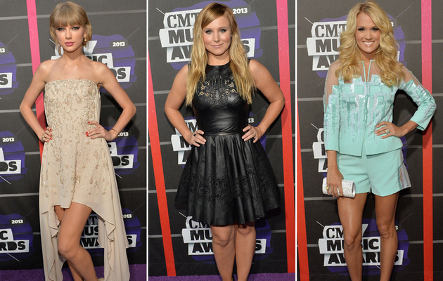 2013 CMT Music Awards Red Carpet: Taylor Swift, Carrie Underwood Disappoint