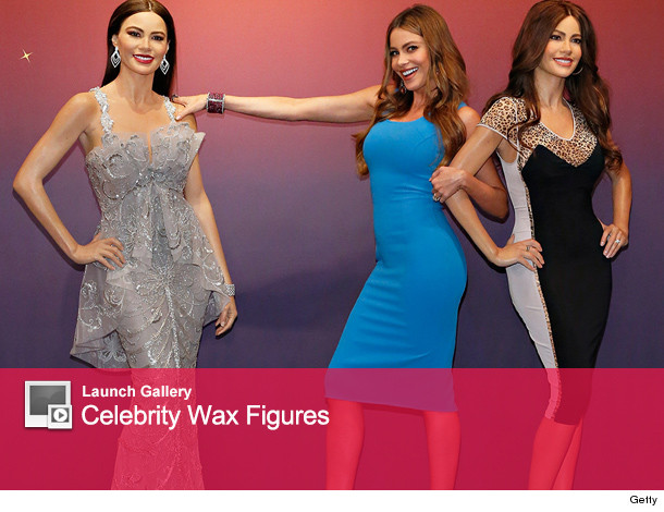 Celebrity and their wax figures in new york