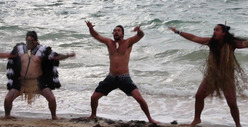 Jason Momoa -- Scaring Everybody With Maori War Dance