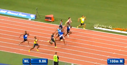 Usain Bolt LOSES 100 Meter Dash ... In Meaningless Race