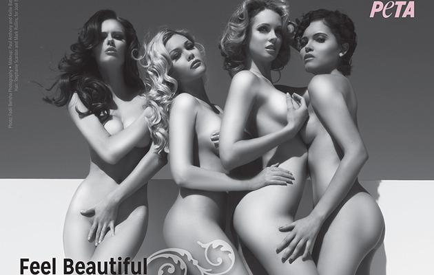 Shanna Moakler & Miss USA Winners Go Naked for PETA