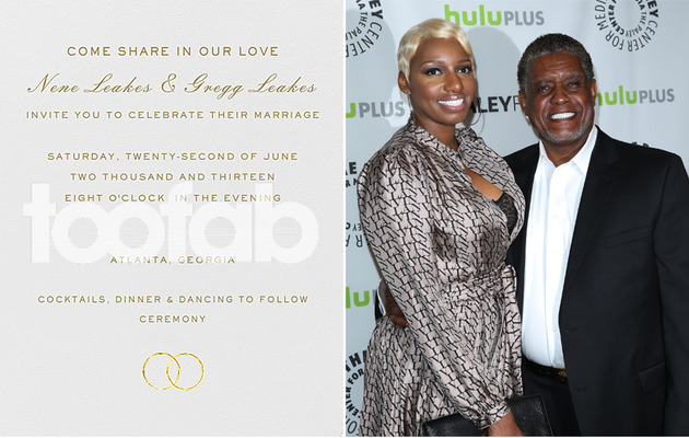 Exclusive: NeNe and Gregg Leakes' Wedding Invitation!