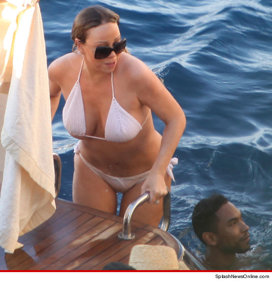 Mariah Carey -- BOMBS AWAY ... In Skimpy Bikini