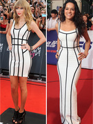 Dueling Dresses: Taylor Swift vs. Michelle Rodriguez!