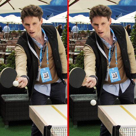 Can you spot the THREE differences in the Eddie Redmayne picture?
