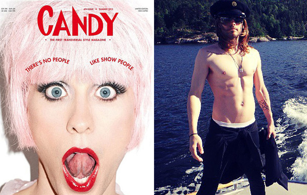Jared Leto Does Drag, Looks Just Like Zooey Deschanel