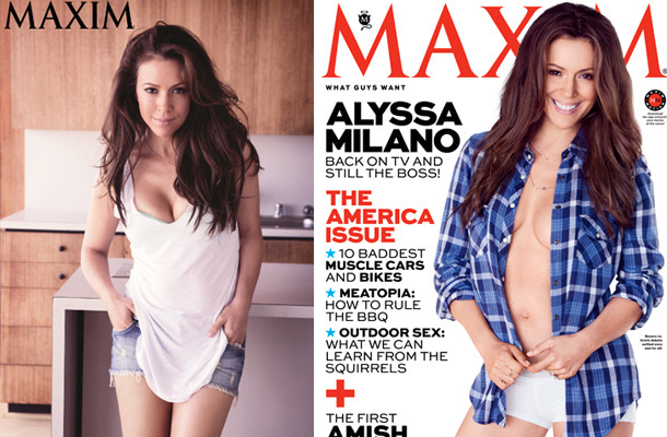 Alyssa Milano Covers Maxim at 40 -- Check Out Her Killer Bod!