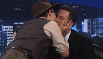 Funny Video: Johnny Depp Kisses Jimmy Kimmel!