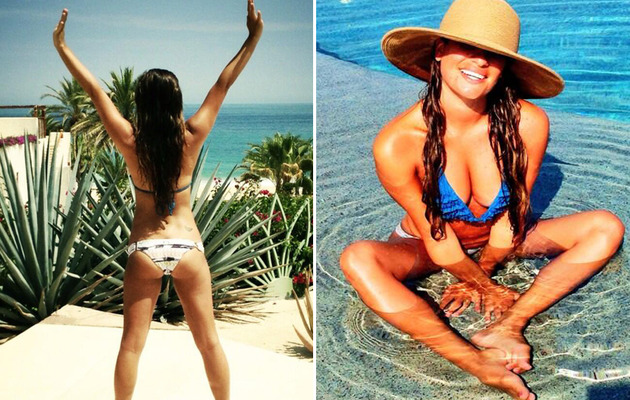 Lea Michele Tweets Bikini Butt Pic -- See the Sexy Shot!