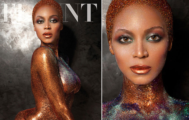 Beyonce Is Naked & Covered In Glitter for Hot Flaunt Magazine