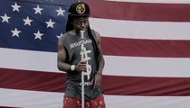 Lil Wayne -- American Flag Stomping CUT OUT of New Music Video